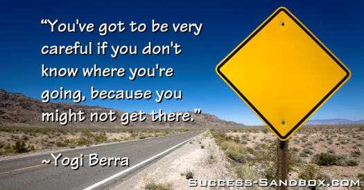 You've got to be very careful if you don't know where you're going, because you might not get there